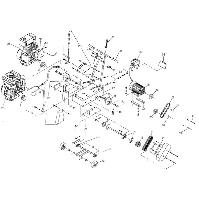 Norton C55 Concrete Saw Parts